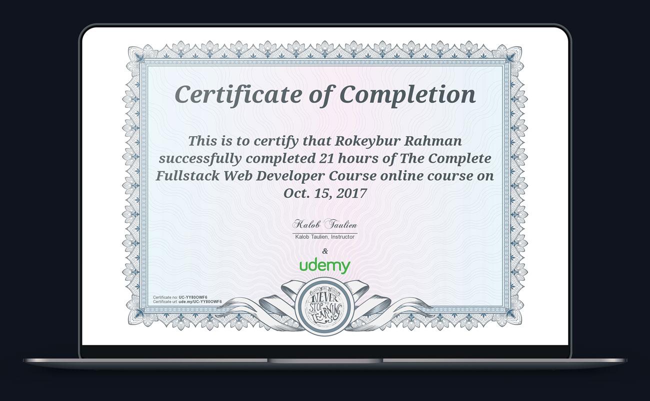 Certified fullstack web developer