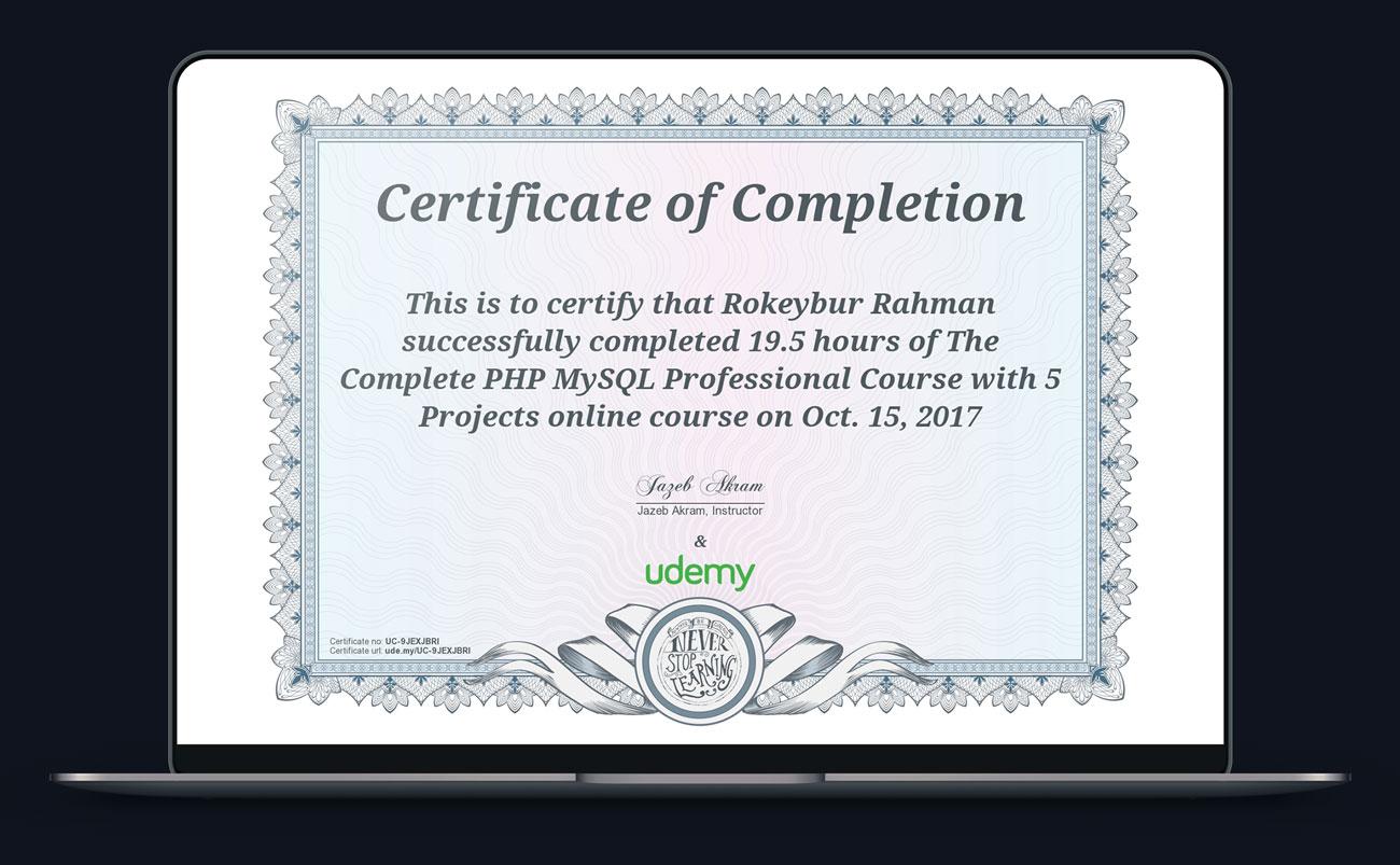 Certified php mysql developer