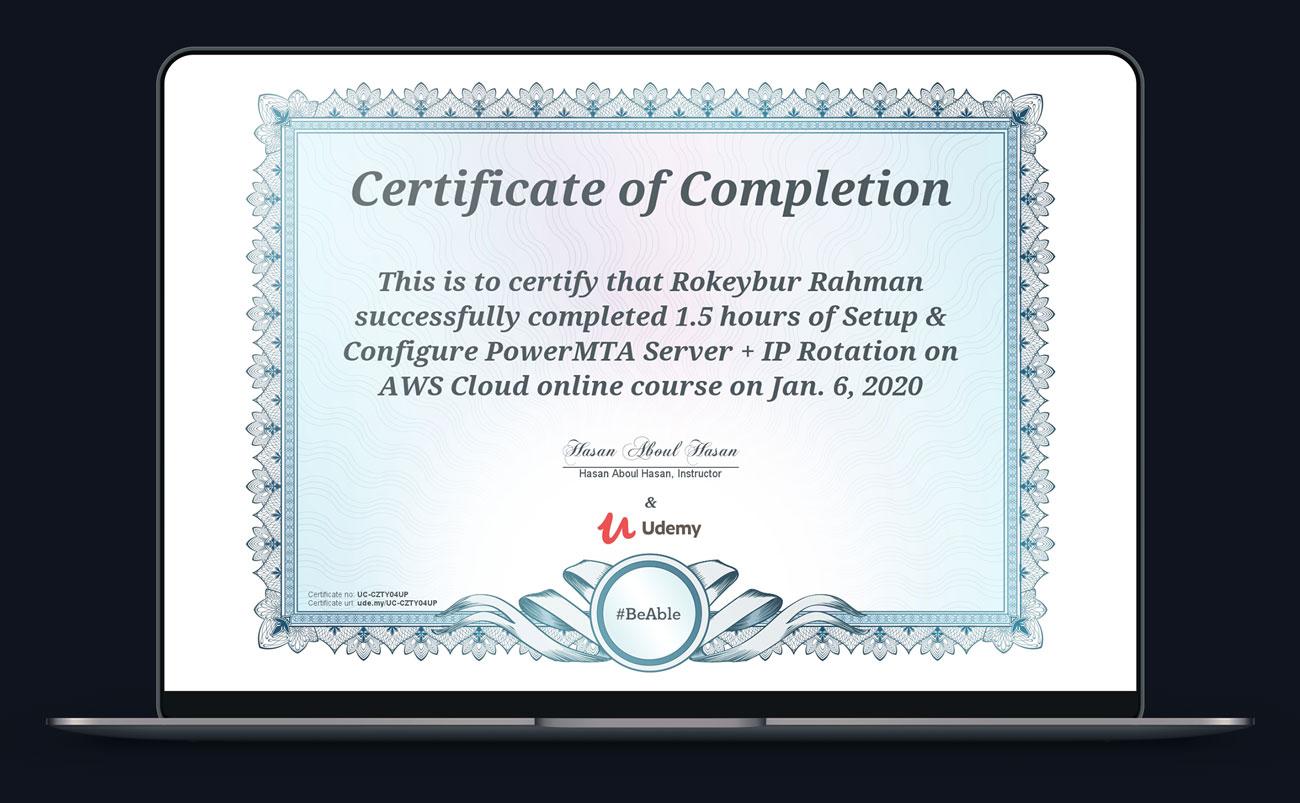 Certified powermta server expert